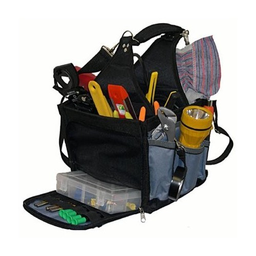 Square Tool Carrier - with Multi-Compartment Tray