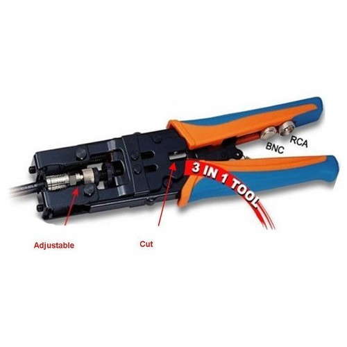 Control Cycle Ratcheting Coax Crimp Tool