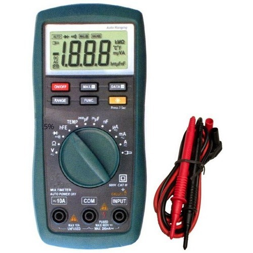 Cat III Autoranging Digital Multimeter with Temperature Probe