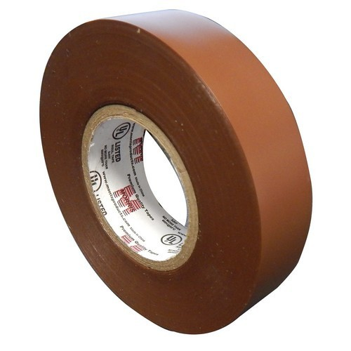 "Vinyl Plastic Electrical Tape 7MIL X 3/4"" X 60' PVC Brown"