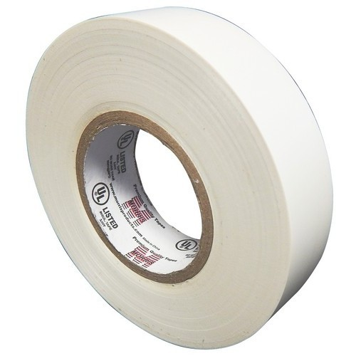 "7 Mil Professional Grade Vinyl Electrical Tape White 3/4"" X 66'"