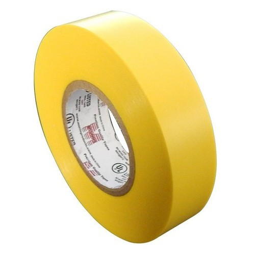 "7 Mil Professional Grade Vinyl Electrical Tape Yellow 3/4"" X 66'"