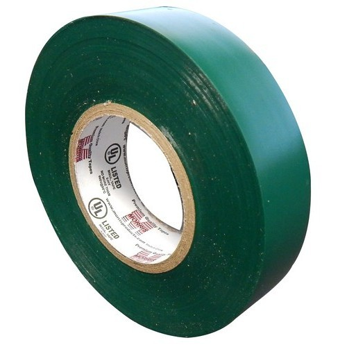 "7 Mil Professional Grade Vinyl Electrical Tape Green 3/4"" X 66'"