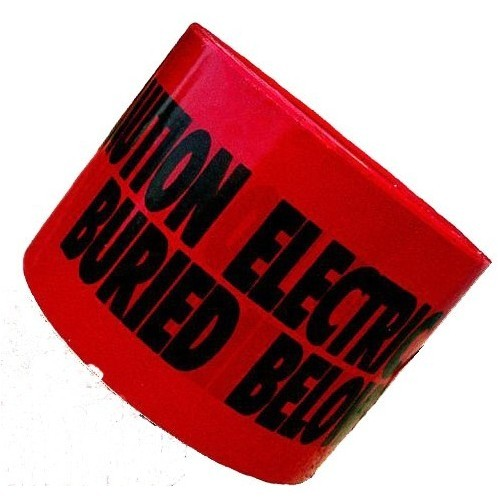 "Underground Tape 'Caution Buried Electric Line Below' (3"" X 300Ft Red)"