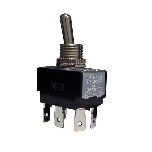 Heavy Duty 2 Pole Toggle Switch DPDT On-On Quick Connect Terminals