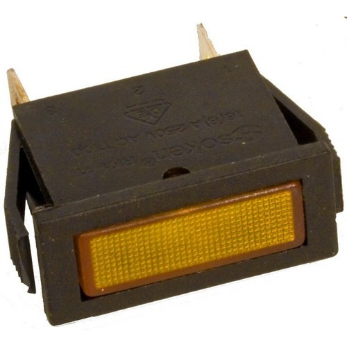 Rectangular Indicator Pilot Lamp Amber 250VAC