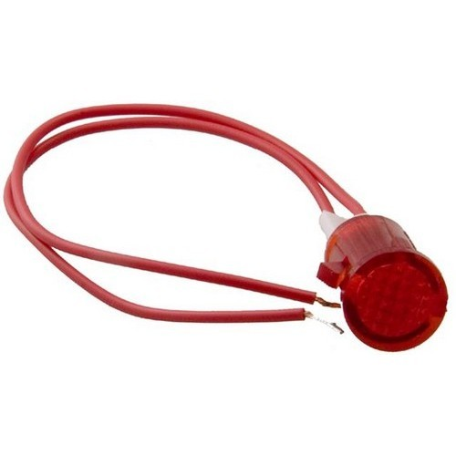 "Round Indicator Pilot Lamp with 6"" Leads Red 24VDC"