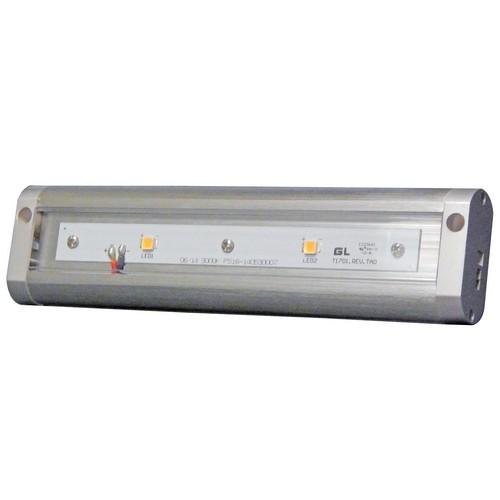 "LED Under Cabinet Light 3000K 8"" LED Brushed Aluminum Hardwire Or Plug-In Dimmable"
