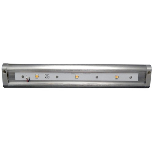 "LED Under Cabinet Light 3000K 12"" LED Brushed Aluminum Hardwire Or Plug-In Dimmable"