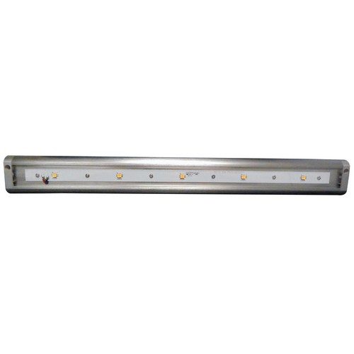 "LED Under Cabinet Light 3000K 18"" LED Brushed Aluminum Hardwire Or Plug-In Dimmable"