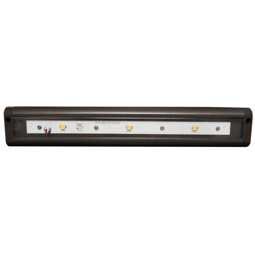 "LED Under Cabinet Light 3000K 12"" LED Bronze Hardwire Or Plug-In Dimmable"
