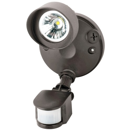 LED Motion Activated Security Flood Lights Dual Head 24 Watts Bronze 5000K
