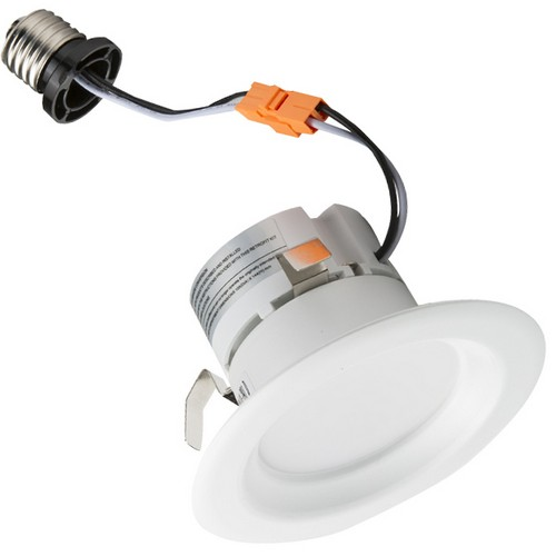 "LED Recessed Lighting Retrofit Kit 4"" 3000K Baffled Bezel"