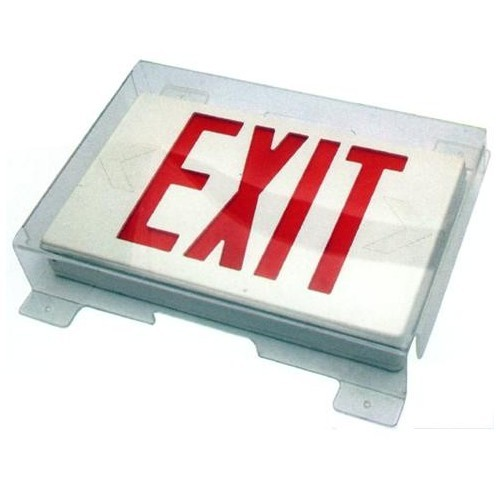 Polycarbonate Vandal/Environmental Shield Guard for Exit Signs
