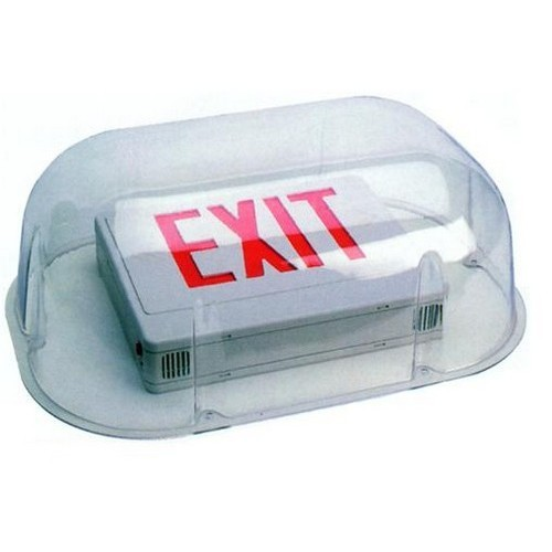 Polycarbonate Vandal/Environmental Shield Guard For Use With Emergency Lights