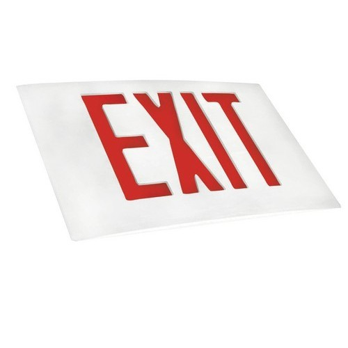 Cast Aluminum LED Exit Sign Face Plate Red LED White Face