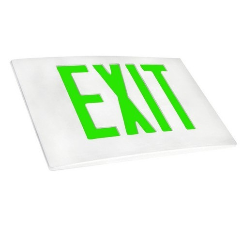 Cast Aluminum LED Exit Sign Face Plate Green LED White Face