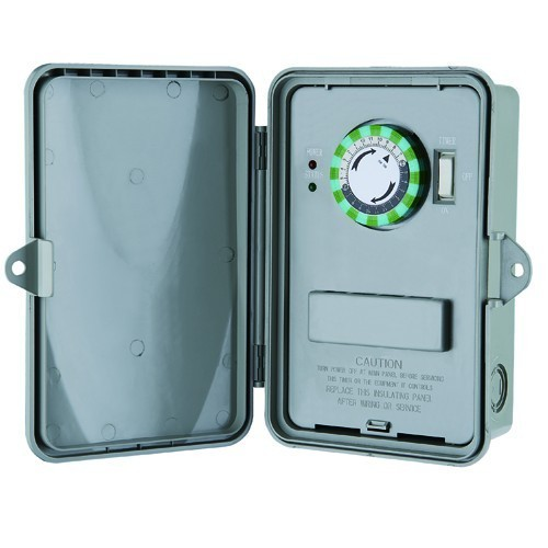 24 Hour Multi-Voltage Time Controls Non-Metallic Enclosure DPDT 10-208-240-277V