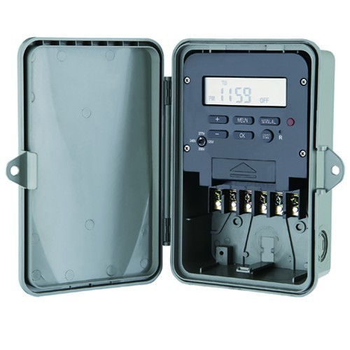 7 Day Electronic Time Controls - Multi-Voltage DPST 120-208-240-277V