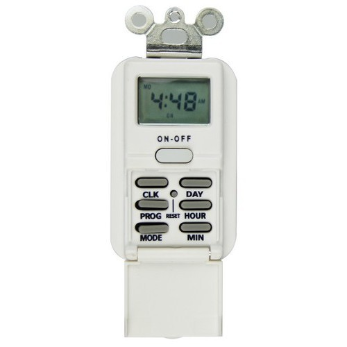 7 Day In Wall Digital Timer White