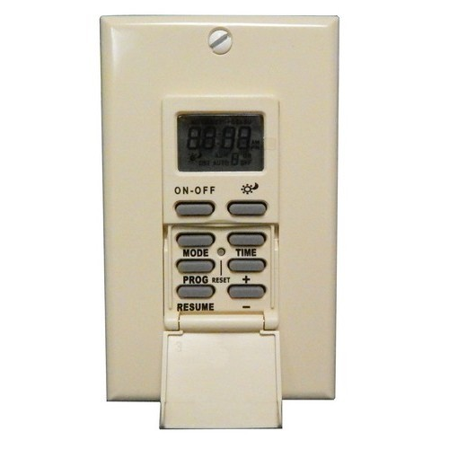 7 Day In-Wall Digital Self-Adjusting Timer - SunTracker Ivory