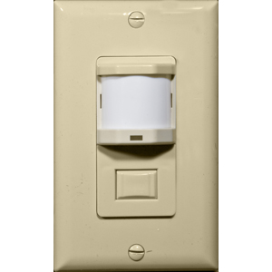 Wall Mount Occupancy/Vacancy Sensors - PIR Single Pole Ivory