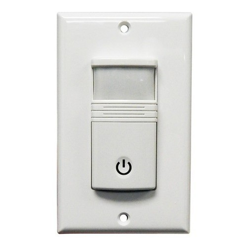 Wall Mount Occupancy/Vacancy Sensors - No Neutral - PIR Single Pole White