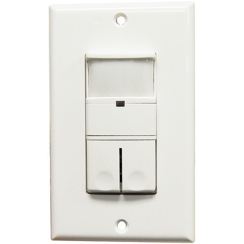 Wall Mount Occupancy/Vacancy Sensors - Double Pole - PIR-3 Way White