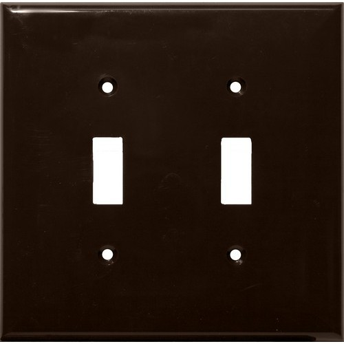Lexan Wall Plates 2 Gang Midsize Toggle Switch Brown