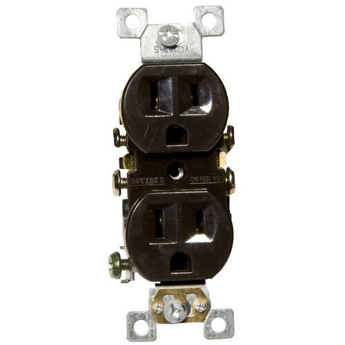 Standard Duplex Receptacle Brown 15A-125V
