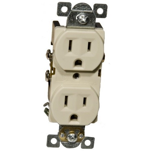 Commercial Duplex Receptacle 15A 125V Ivory