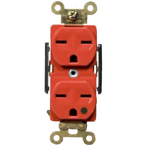 Hospital Grade Duplex Receptacle Red 15A-250V