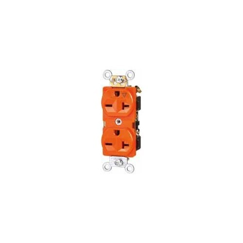 Tamper Resistant Isolated Ground Duplex Receptacles 20A 125V Orange