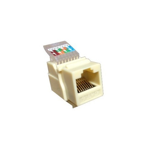 Cat6 (RJ-45) Unshielded Keystone Jacks - Tooless Ivory