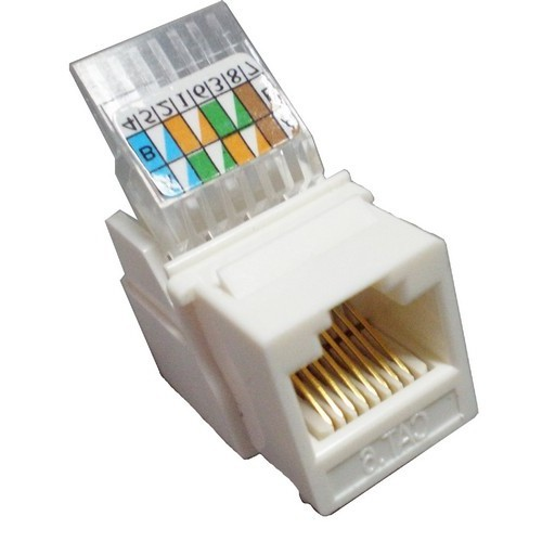 Cat6 (RJ-45) Unshielded Keystone Jacks - Tooless White