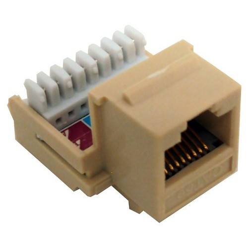 Cat5E (RJ45) Unshielded Keystone Jacks-Rear Entry Ivory