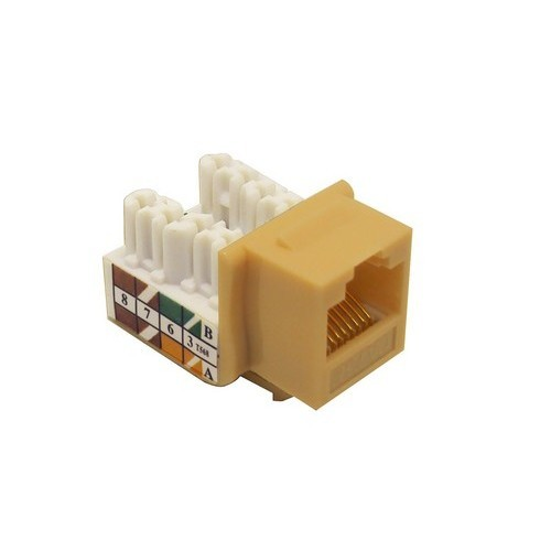 Cat5E (RJ45) Unshielded Keystone Jacks Ivory