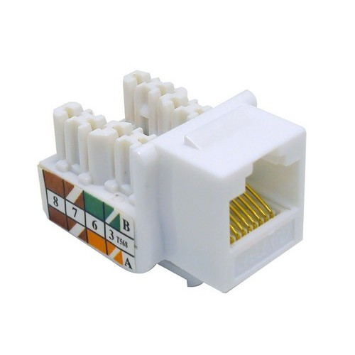 Cat5E (RJ45) Unshielded Keystone Jacks White