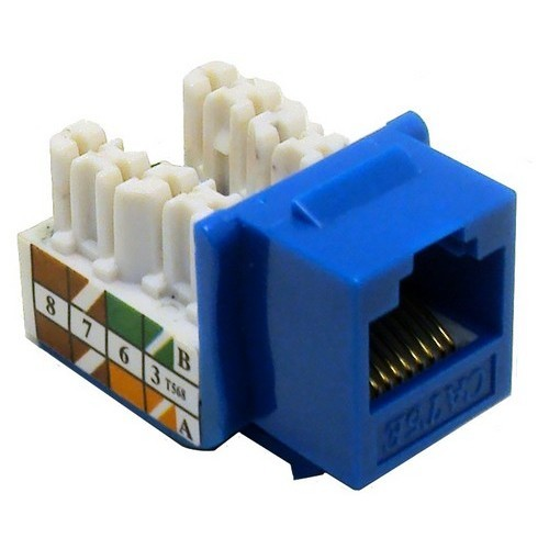 Cat5E (RJ45) Unshielded Keystone Jacks Blue