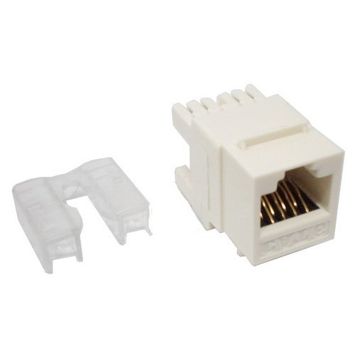 Cat6 (RJ-45) Unshielded Keystone Jacks - Rear Entry White