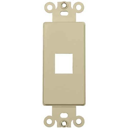 Decorative DataComm Frame For Keystone Jacks and Modular Inserts One Port Ivory