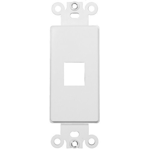 Decorative DataComm Frame For Keystone Jacks and Modular Inserts One Port White
