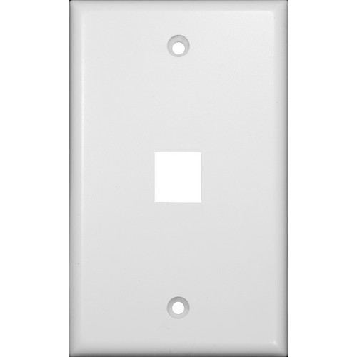 Datacomm Wallplate For Keystone Jacks & Modular Inserts One Port White