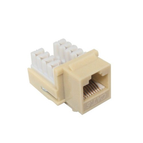 Cat6 (RJ45) Unshielded Keystone Jacks Ivory