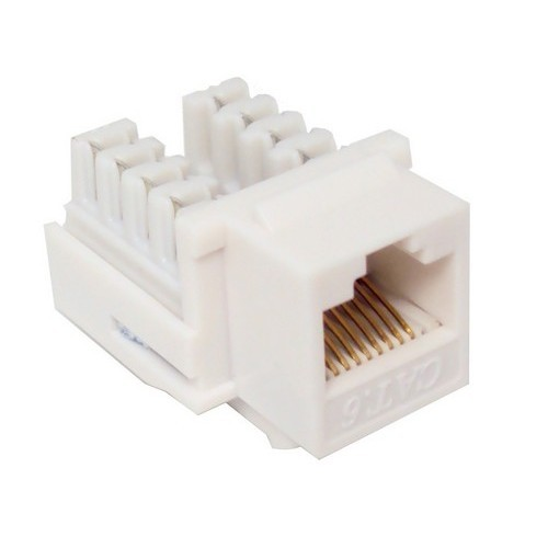 Cat6 (RJ45) Unshielded Keystone Jacks White