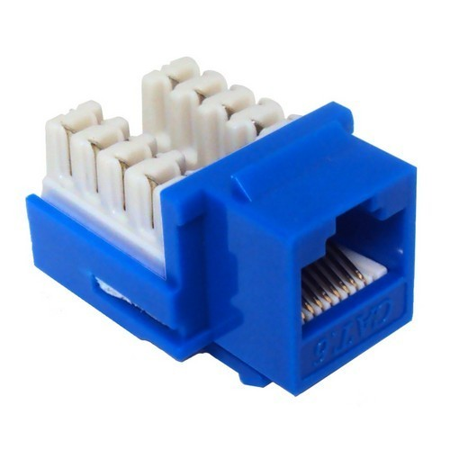 Cat6 (RJ45) Unshielded Keystone Jacks Blue