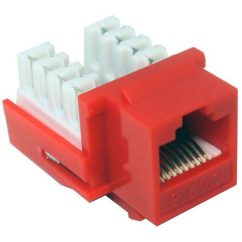 Cat6 (RJ45) Unshielded Keystone Jacks Red