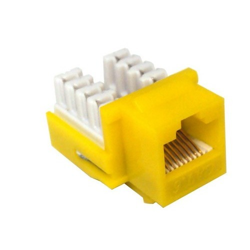Cat6 (RJ45) Unshielded Keystone Jacks Yellow