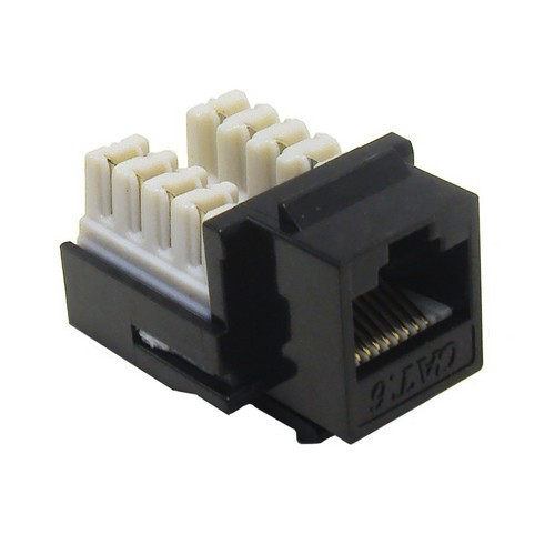 Cat6 (RJ45) Unshielded Keystone Jacks Black