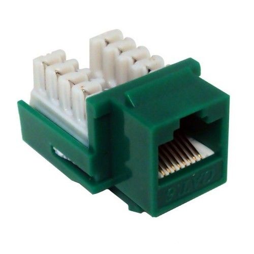 Cat6 (RJ45) Unshielded Keystone Jacks Green